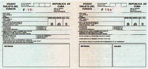 Carte de tourisme Cuba Je pars à Cuba