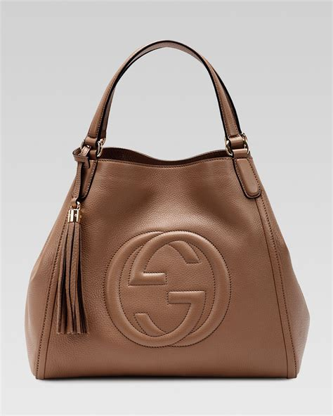 Garucci Shoulder Bag Abu Abu lyst gucci soho leather shoulder bag brown in brown