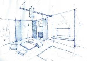 Room Layout Drawing Interior Design Drawing Living Room Pen Sketch Arch
