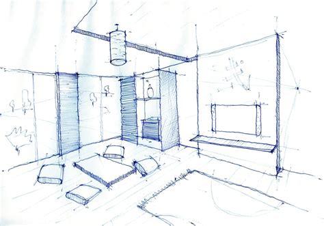 Interior design drawing living room pen sketch arch student com