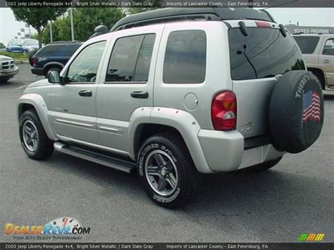 silver jeep renegade 2003 jeep liberty renegade 4x4 bright silver metallic