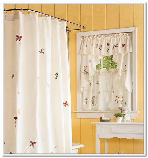 ideas for bathroom curtains modern bathroom window