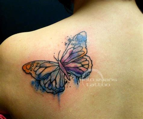 tattoo butterfly watercolor watercolor butterfly tattoo by halo evans at lasting