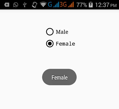 android radio button layout weight get checked radio button group value in android android
