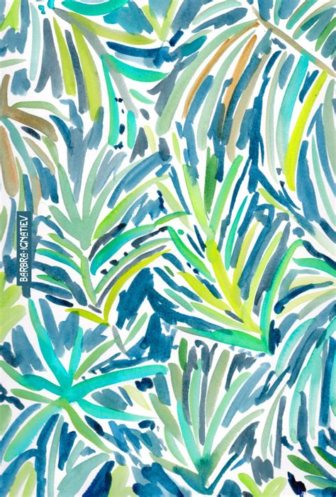 watercolor tropical pattern daily color 142 into the jungle 183 barbarian by barbra