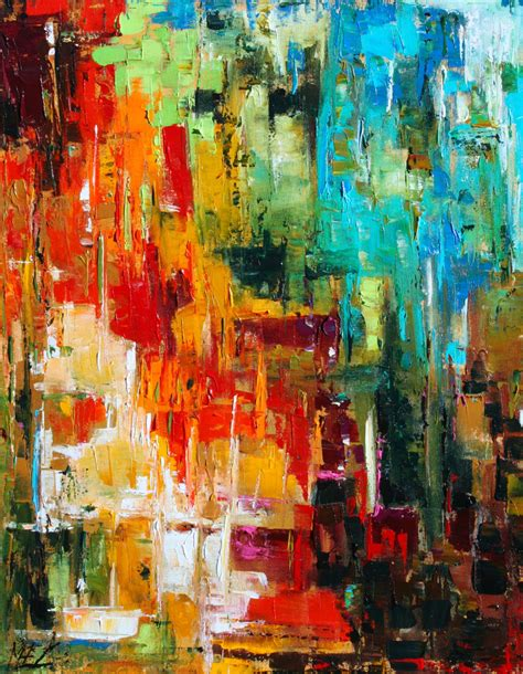 acrylic painting with knife custom order abstract palette knife original by