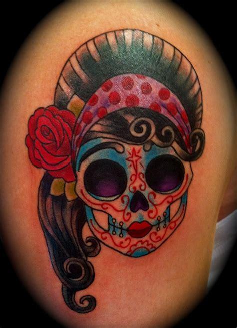 girl skull tattoo dia de los muertos dia de los muertos