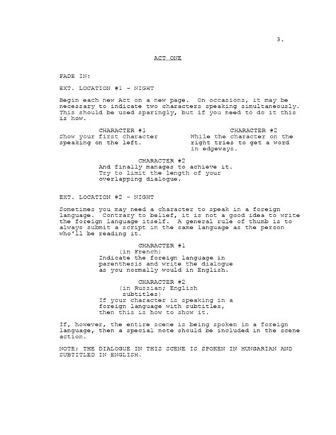 image gallery screenwriting template
