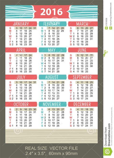 calendario bolsillo 2016 photoshop calendario 2016 comienzo del bolsillo el domingo