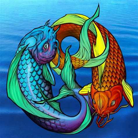 ying yang in koi fish style dejavu tattoo studio koi fish pisces ying yang by awolfillustrations on deviantart