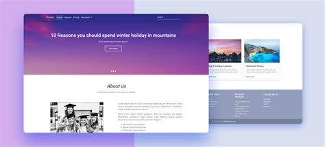 free bootstrap 4 templates stunning responsive material design free bootstrap 4 templates stunning responsive material