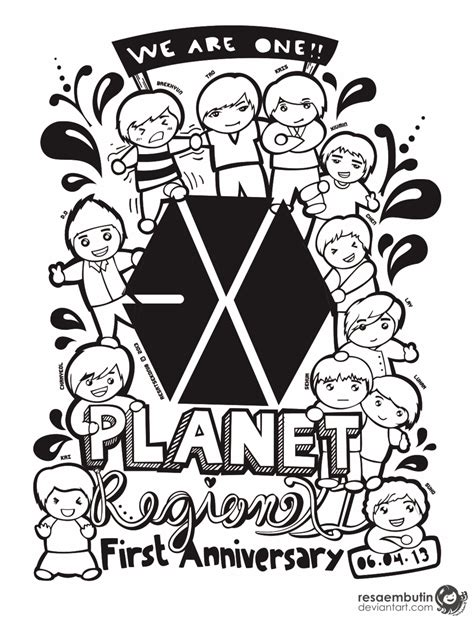 doodle exo exo anniversary doodle by resaembutin on deviantart