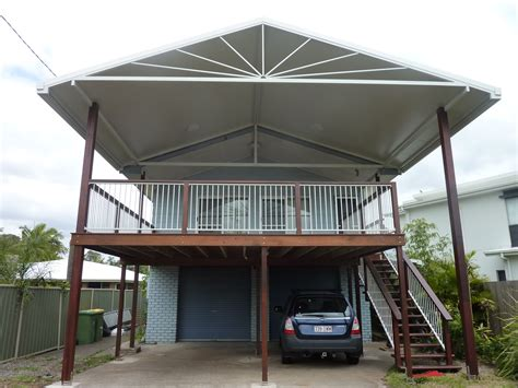 Carport Deck Combination carport deck combination carport back deck mahogany decking with azek railings and steps