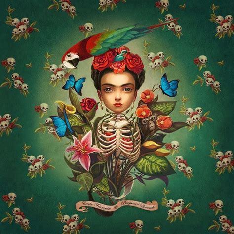 imagenes chidas de frida khalo 22 ilustraciones tributo a frida kahlo creadas por