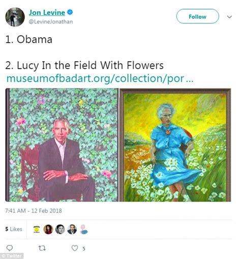 sean spicer obama portrait michelle obama portrait sparks an outcry daily mail online