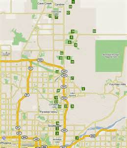 scottsdale map travel map vacations travelsfinders