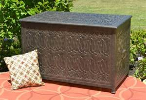 patio furniture storage tuscan luxury cast aluminum patio furniture storage box