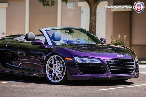 Purple Audi R8 by Audi R8 Spyder Velvet Purple On Hre P40sc Show Stopper