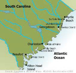 carolina map of coast sc beaches map of south carolina beaches south