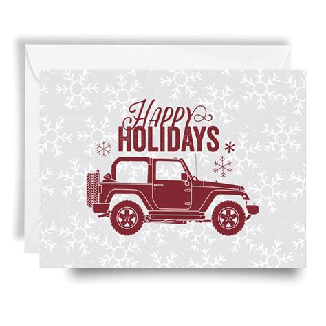 christmas jeep card all things jeep jeep holiday card happy holidays red