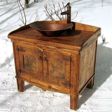 Rustic Bathroom Sink by Rustic Vessel Vanity By Rusticbru Lumberjocks Woodworking Community
