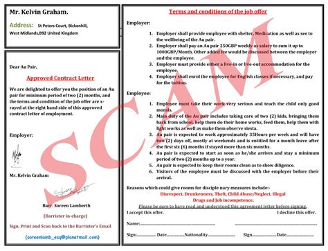 Host Family Agreement Printable Contracts Host Family Contract Template