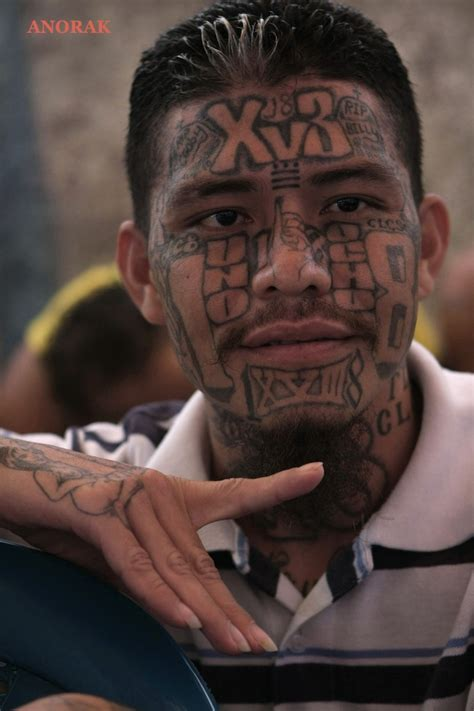 ms 13 gang tattoos anorak in photos the tattooed faces of ms 13 and 18th