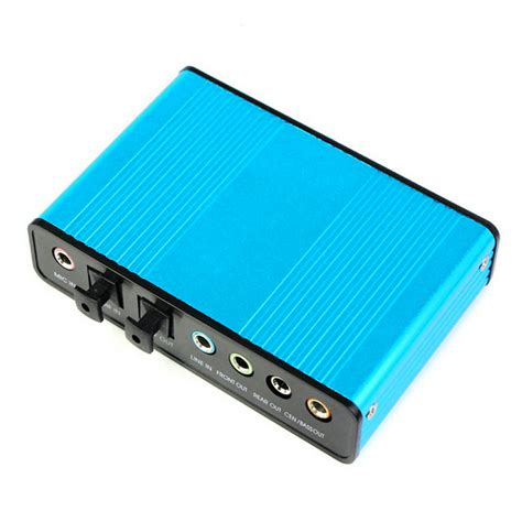 Usb Sound Card External usb 6 channel 5 1 audio external optical sound card