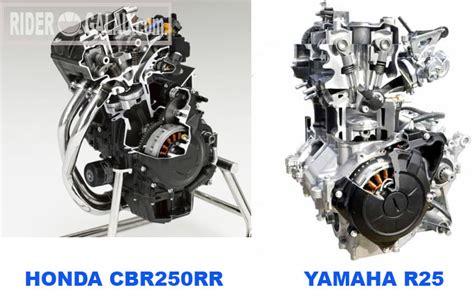 Mesin Motor 4 Silinder perbandingan motor 2 silinder honda all new cbr250rr vs yamaha r25