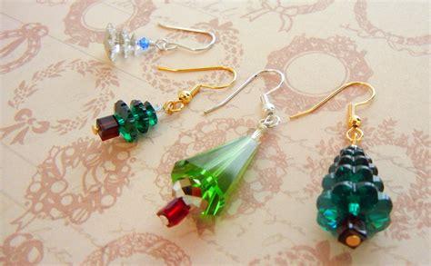 christmas earrings adults twelve days of jewelry designs 1 swarovski tree earrings rings and things