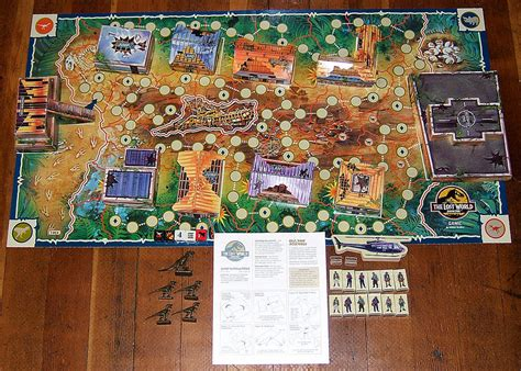 layout jurassic world the game the lost world jurassic park board game park pedia