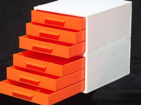 white plastic stacking drawers vintage 60s 70s modular stacking drawers paper trays