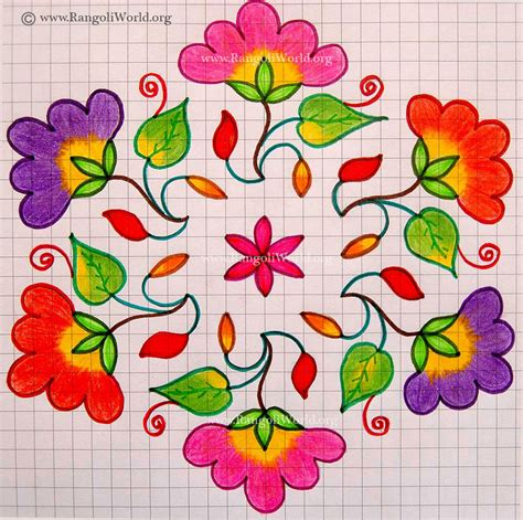 design flower kolam with dots search results for kolam with dots flower designs