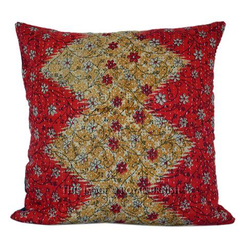Pillow Multicolor 16 quot multicolor handmade india vintage kantha quilt pillow