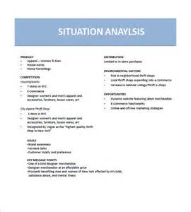 Situational Analysis Template by Marketing Plan Template 10 Free Word Excel