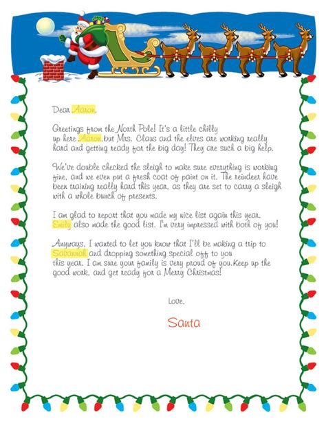 personalized letter from santa ducks in a row personalized letter from santa