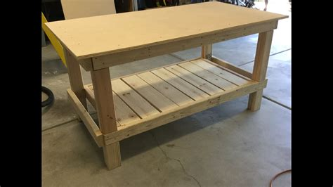 make a work bench easy to build simple workbench youtube