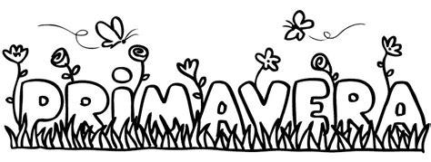 dibujos para colorear primavera letras primavera para colorear letras primavera para