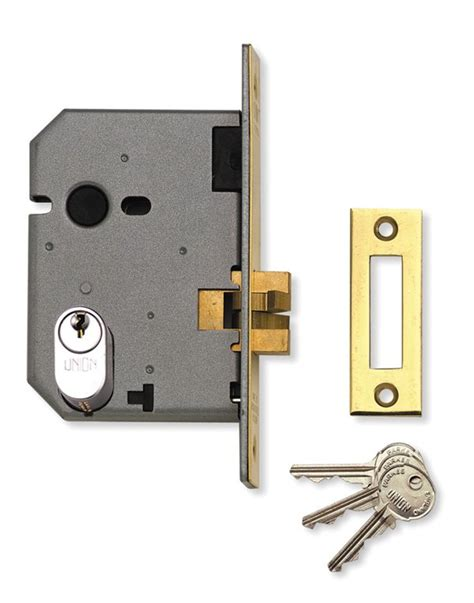 Lock Door by Union L2441 Oval Profile Mortice Sliding Door Lock