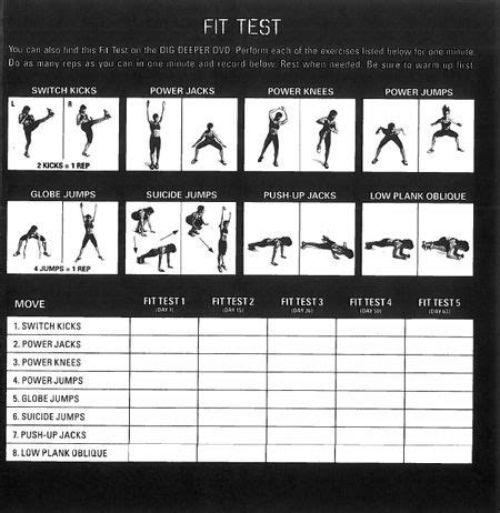 gone starter beginner authentic examination 8483235099 workout fit test chart time to get my in shape p90x cas and