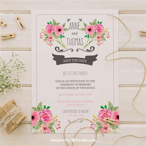 convite de casamento flores em aquarela convite de casamento flores de aguarela baixar