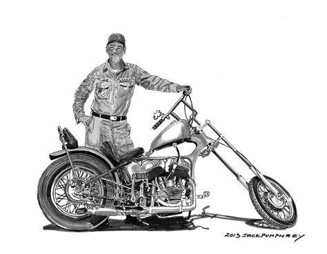 Motorrad Chopper Arten by Strokers 1948 Harley Wla Drawing By Pumphrey