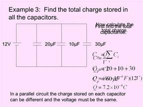 charge on capacitors in parallel electric potential energy and capacitance ppt