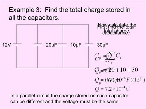 energy stored in capacitor problems electric potential energy and capacitance ppt