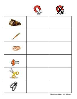 Magnet Worksheets by Magnet Worksheet Pre K K 1 By Aoki Teachers Pay