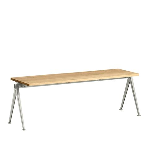 bench pyramid hay pyramid bench beige lacquered oak 140 x 40 cm