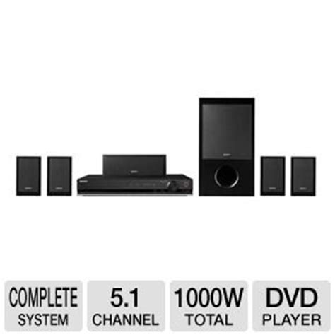 sony 5 1 channel 1000 watt dvd home theater surround sound