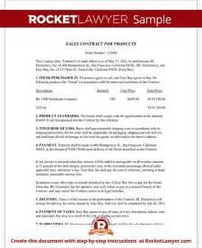 Sales Contract Template by Sales Contract Template Free Sales Contract Form With