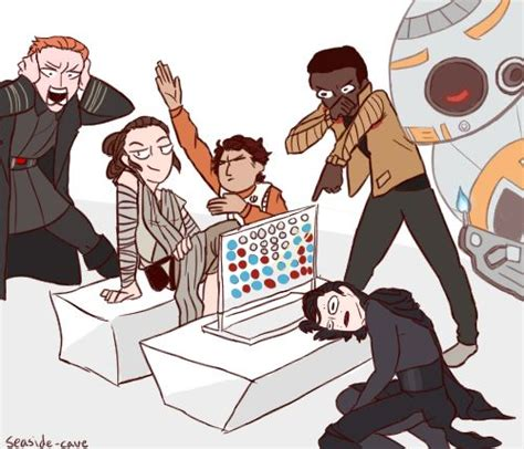 what to get a star wars fan rey beat kylo at connect 4 draw the squad things just got