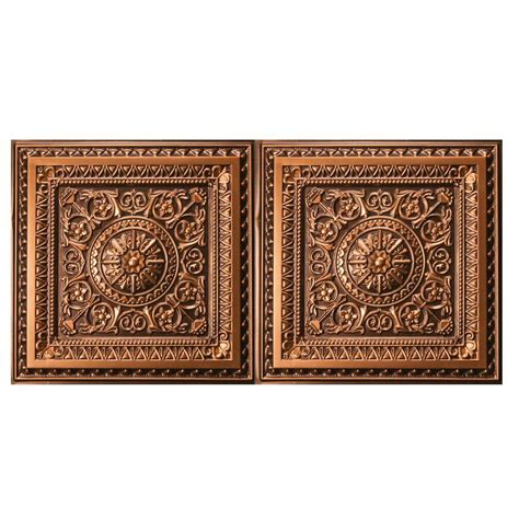 decorative ceiling tiles home depot udecor marseille 2 ft x 4 ft lay in or glue up ceiling tile in antique gold 80 sq ft case